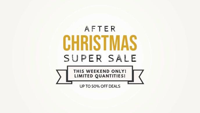 Minimalist Christmas Super Sale Facebook Banner Video