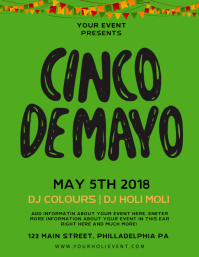 Minimalist Cinco De Mayo Party Flyer Template
