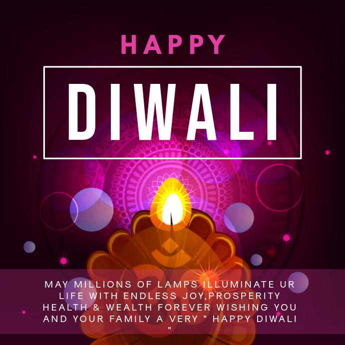 Minimalist Diwali Event Invitation