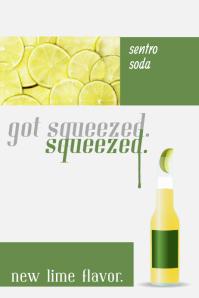 Minimalist Drink Advert Poster Template