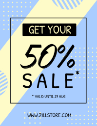 Minimalist Fashion Sale Poster Pamflet (VSA Brief) template