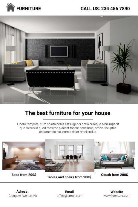 Minimalist Furniture Flyer