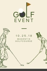 Minimalist Golf Event Poster Template