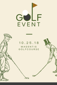 Minimalist Golf Event Poster Template