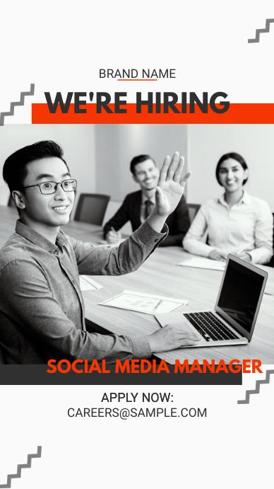 Minimalist Job Vacancy Story Ad template