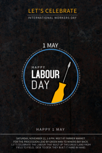 Minimalist Labour Day Poster Template