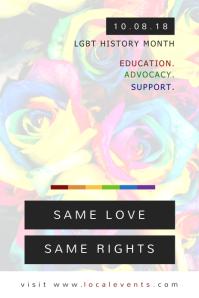 Minimalist LGBT Rights Poster Template