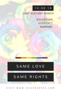 Minimalist LGBT Rights Poster Template