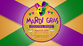 Minimalist Mardi Gras Display Banner template
