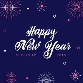 Minimalist New Year Greeting Card Design