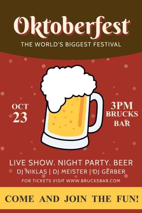 Minimalist Oktoberfest Printable Poster Template