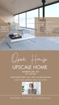 Minimalist Open House Upscale Home Instagram template