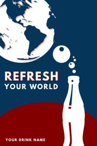 Minimalist Refreshment Advert Poster Template