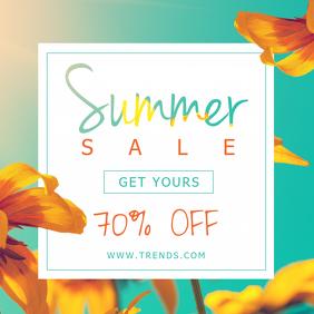Minimalist Summer Sale Social Media Ad