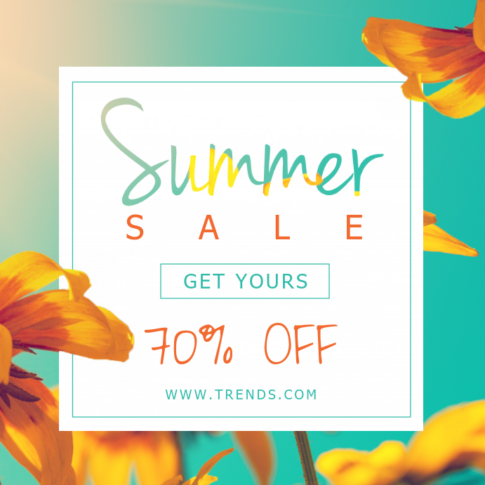 Minimalist Summer Sale Social Media Ad