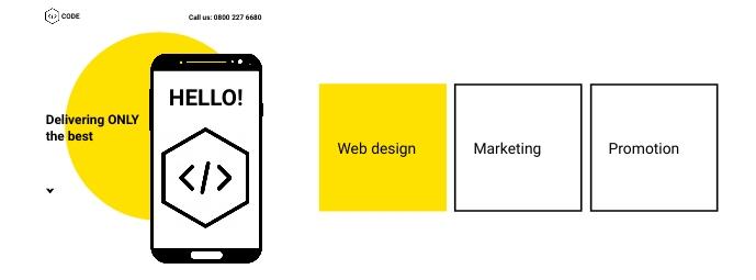 Minimalist Web Design Agency Flyer Facebook Omslag Foto template
