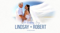 Minimalist Wedding Video Cover Logo Цифровой дисплей (16 : 9) template
