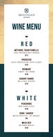 Minimalist wine menu Letter pół strony template