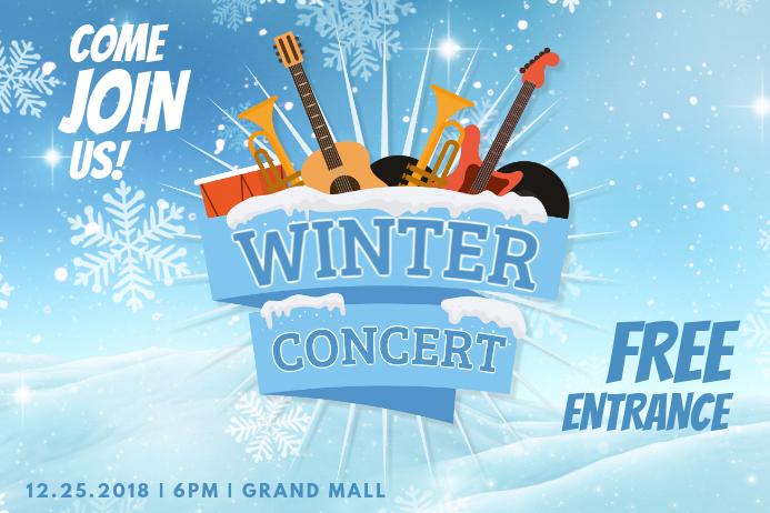 Minimalist Winter Concert Poster
