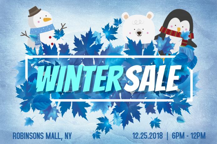 Minimalist Winter Retail Poster