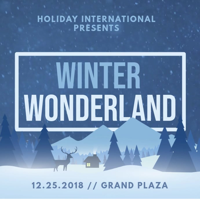 Minimalist Winter Wonderland Invitation Animation