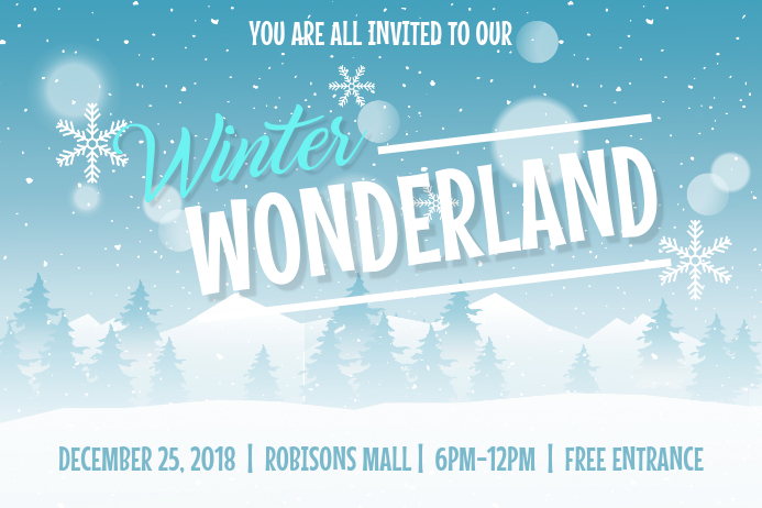 Minimalist Winter Wonderland Invitation Poster Plakkaat template