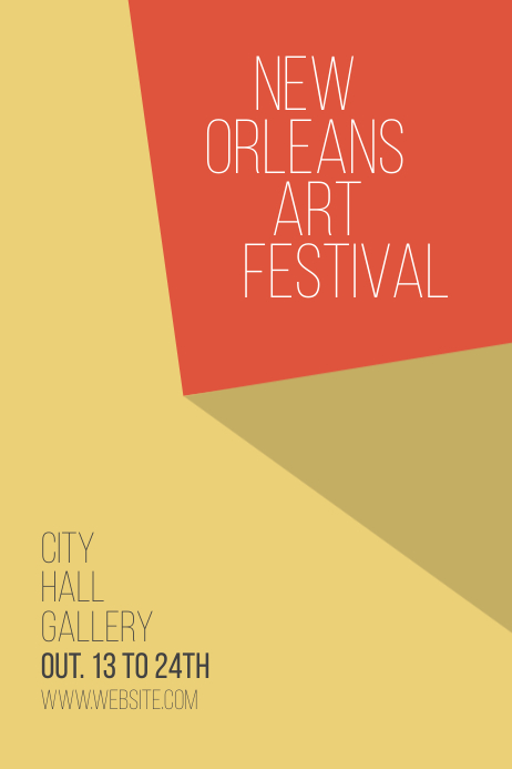 Minimalistic art festival exhibition poster Cartaz template