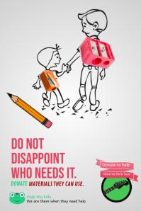 Minimalistic Fundraising Poster