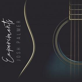 Minimalistic Guitar Album Song Cover Art ปกอัลบั้ม template