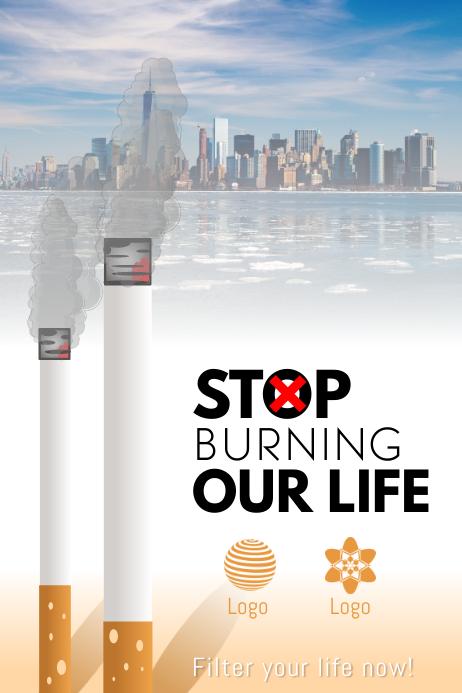 Minimalistic Stop Smoking Poster