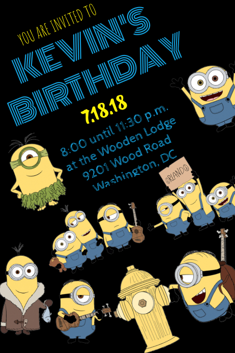 Minion Invitation Template | PosterMyWall