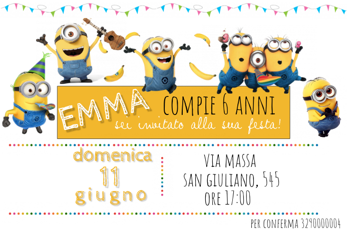 Minions Birthday Invitation Template | PosterMyWall