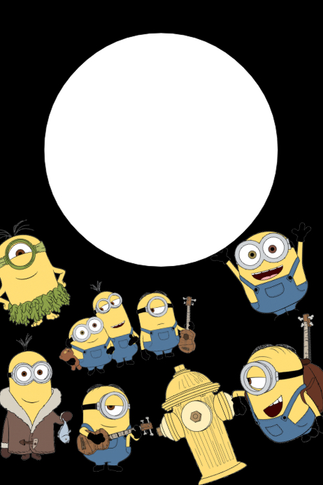 Minions Party Prop Frame Template | PosterMyWall