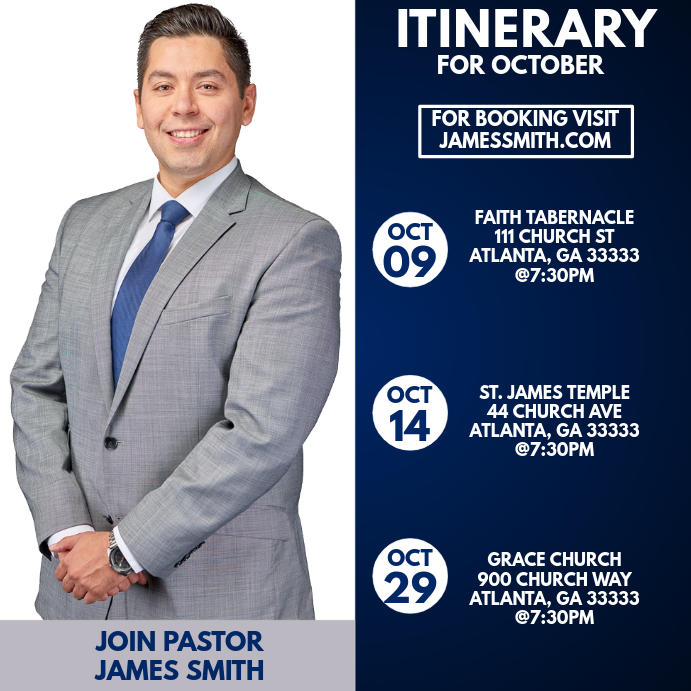 Ministry Itinerary