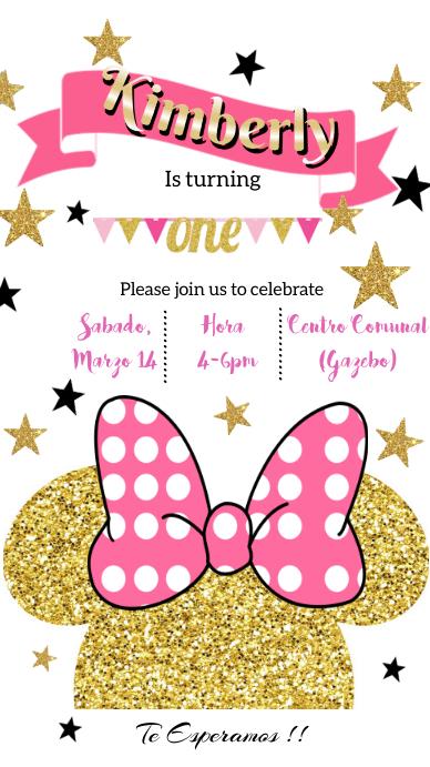Minnie Birthday Status WhatsApp template
