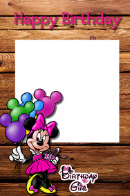 Minnie Mouse Party Prop Frame