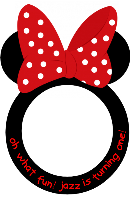 Copy of Minnie Mouse Party Prop Frame | PosterMyWall