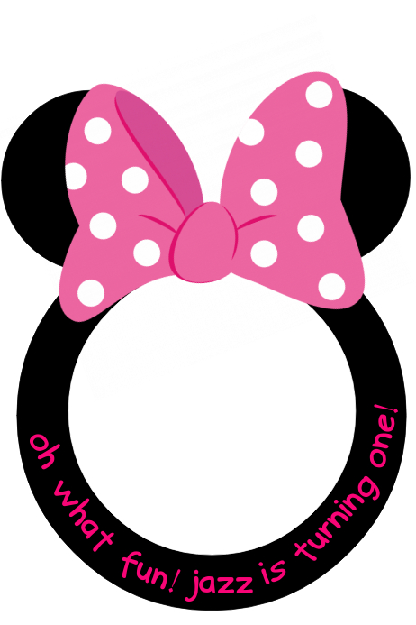 Minnie Mouse Prop Frame Template | PosterMyWall