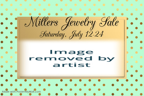 Mint and Gold Sophisticated Fashion Jewelry Sales Flyer