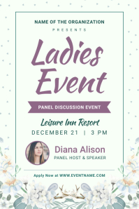 Mint Green & Purple Ladies Event Flyer Poster template