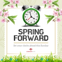 Mint Green Spring Forward Instagram Image template