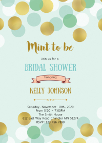 Mint to be shower invitation