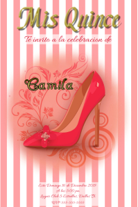 Mis Quince Birthday Announcement