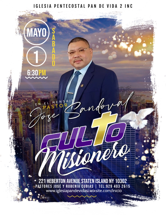 Misionero Flyer (US Letter) template