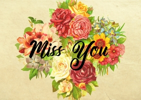 Miss You - PostCard