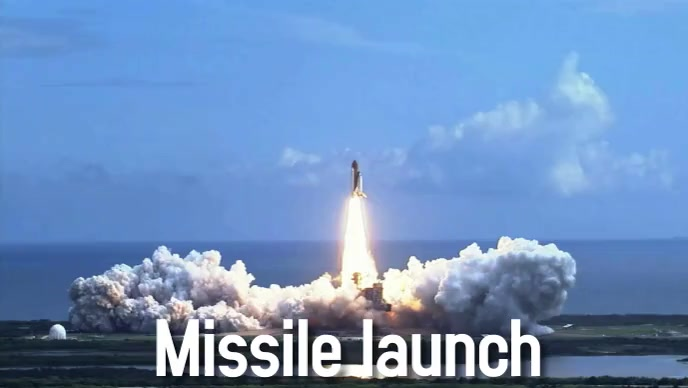 missile launch to space Facebook Cover Video (16:9) template
