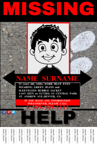 Missing Person announcement Poster