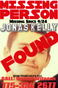 MIssing Person Template  Missing Persons Poster Template