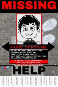 Similar Design Templates  Missing Persons Poster Template