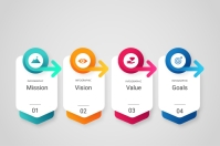 Mission infographic Tatak template